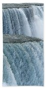 Niagara Falls Closeup Charcoal Effect Beach Towel