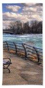 Niagara Rapids In Early Spring Beach Towel