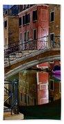 Night Bridge In Venice Beach Towel