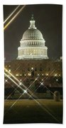 Night Capitol Beach Towel