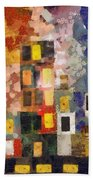 Night City Beach Towel by Michelle Calkins