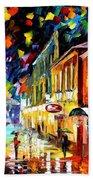 Night Etude - Palette Knife Oil Painting On Canvas By Leonid Afremov Beach Towel