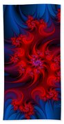 Night Fire Beach Towel