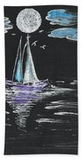 Night Fishing Beach Towel