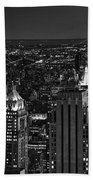 Night In Manhattan Beach Towel