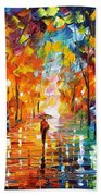 Night Mood In The Park Beach Towel