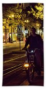Night Moods Streets Of San Jose   Beach Towel