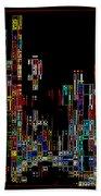 Night On The Town - Digital Art Beach Towel by Carol Groenen