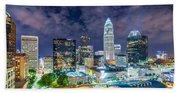 Night View Scenes Around Charlotte North Carolina Beach Towel