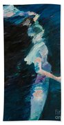 Night Water Beach Towel