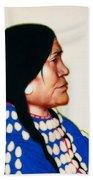 Night Woman, A Blackfeet Of Montana Beach Towel