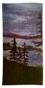 Nightime Rangely Lake Maine Beach Towel