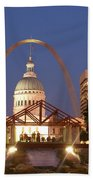 Nighttime At The Arch Beach Towel