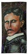 Nikola Tesla Beach Towel
