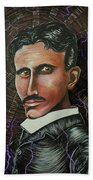 Nikola Tesla Beach Sheet