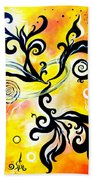 Nirvana Zen Yellow Way To Eternity Beach Towel