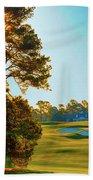 No. 9 Carolina Cherry 460 Yards Par 4 Beach Towel