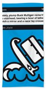 No021-my-ulysses-book-icon-poster Beach Sheet