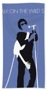 No068 My Lou Reed Minimal Music Poster Beach Towel