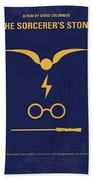No101 My Harry Potter Minimal Movie Poster Beach Towel