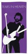 No141 My Eric Clapton Minimal Music Poster Beach Towel