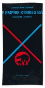 No155 My Star Wars Episode V The Empire Strikes Back Minimal Movie Poster Beach Towel