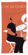 No163 My Phil Collins Minimal Music Poster Beach Towel