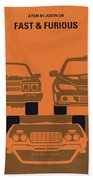 No207-4 My Fast And Furious Minimal Movie Poster Beach Sheet