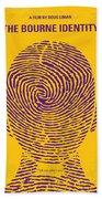 No439 My The Bourne Identity Minimal Movie Poster Beach Sheet