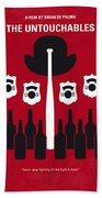 No463 My The Untouchables Minimal Movie Poster Beach Towel