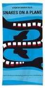 No501 My Snakes On A Plane Minimal Movie Poster Beach Towel