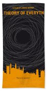 No568 My The Theory Of Everything Minimal Movie Poster Beach Towel