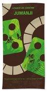 No653 My Jumanji Minimal Movie Poster Beach Sheet