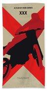 No728 My Xxx Minimal Movie Poster Beach Sheet