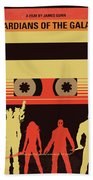No812 My Guardians Of The Galaxy Minimal Movie Poster Beach Towel