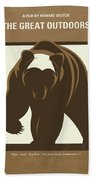 No824 My The Great Outdoors Minimal Movie Poster Beach Towel