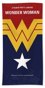 No825 My Wonder Woman Minimal Movie Poster Beach Sheet