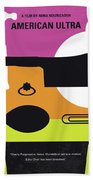 No827 My American Ultra Minimal Movie Poster Beach Towel