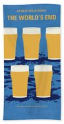No843 My The Worlds End Minimal Movie Poster Beach Towel