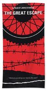 No958 My The Great Escape Minimal Movie Poster Beach Towel