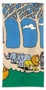 Noah's Ark Beach Towel by Genevieve Esson
