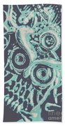 Nocturnal The Blue Owl Beach Towel
