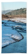 Nooksack River On A December Afternoon Beach Towel