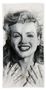 Norma Jean Painting Beach Towel