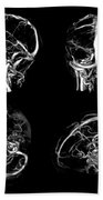 Normal Intracranial Venous System, 3d Ct Beach Towel