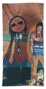 North American Indian Contemplating Beach Towel