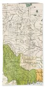 North American Indian Tribes, 1833 Beach Towel