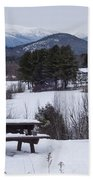 North Conway Winter Mountains Beach Towel
