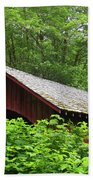 North Fork Yachats Bridge 1 Beach Towel
