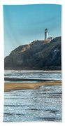 North Head Lighthouse With The Morning Light Beach Towel